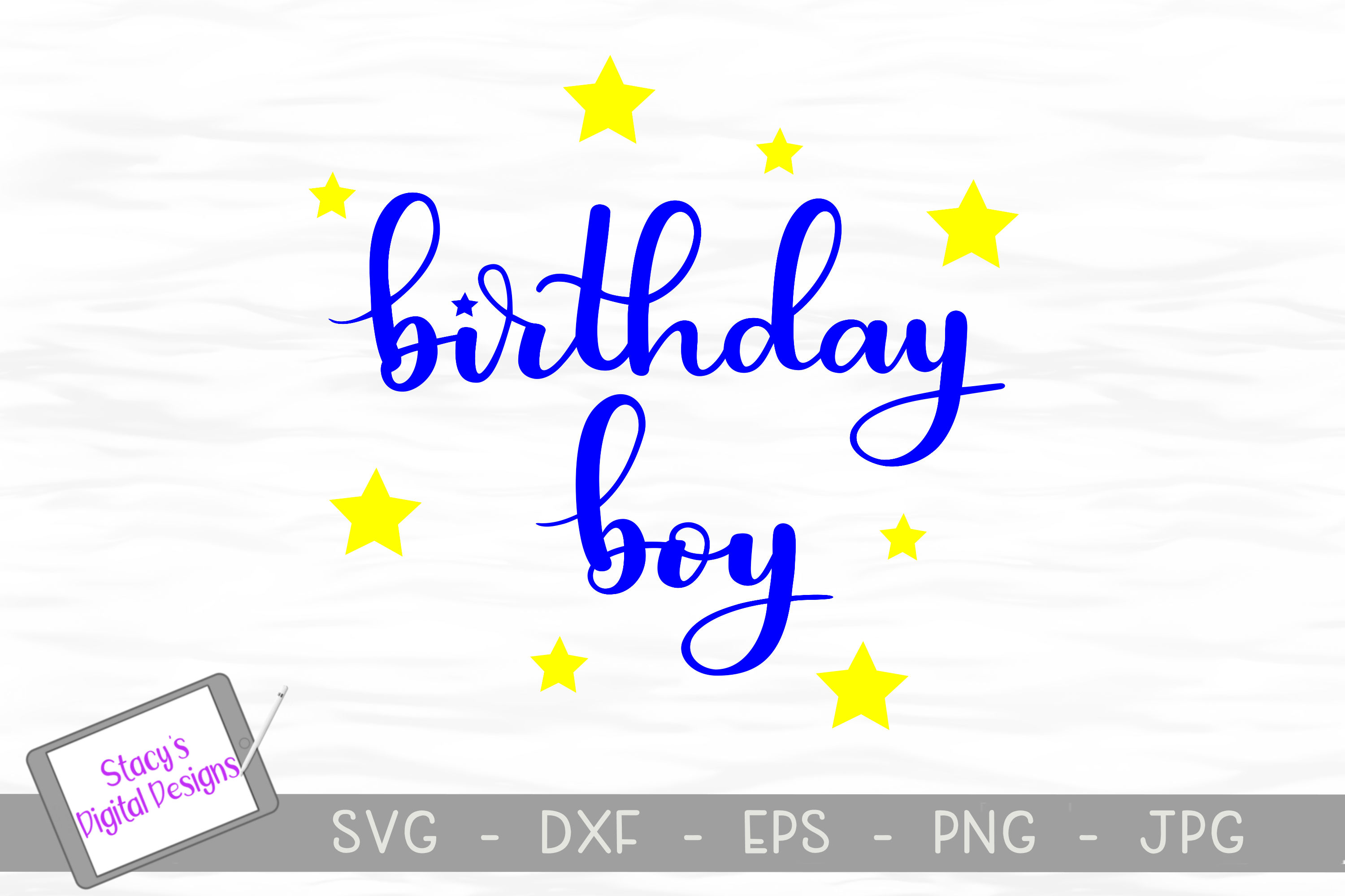 Birthday SVG Bundle - 4 birthday SVG files, Handlettered example image 5