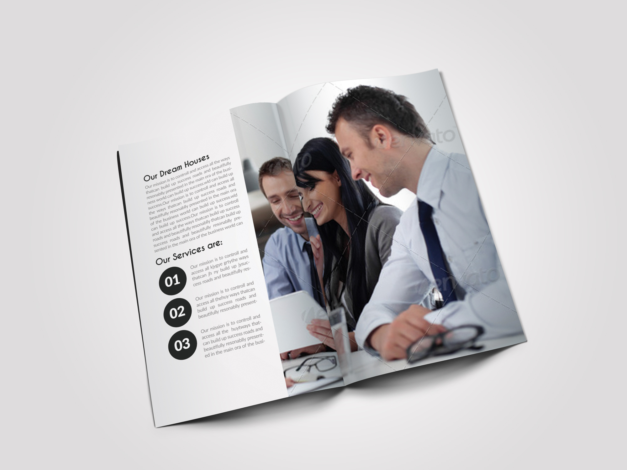 12 Pages Professional Business Bifold Brochure example image 4