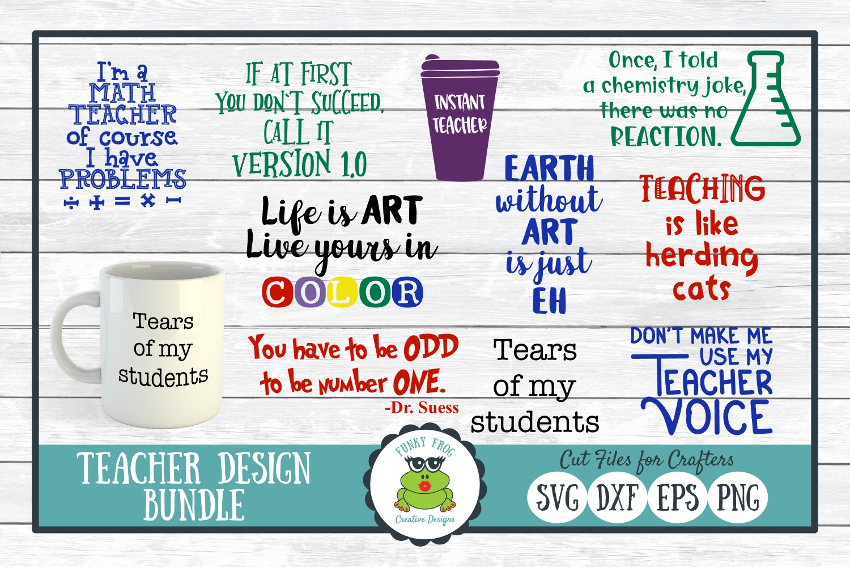 Teacher Designs Bundle- Teacher SVG Cut Files example image 1