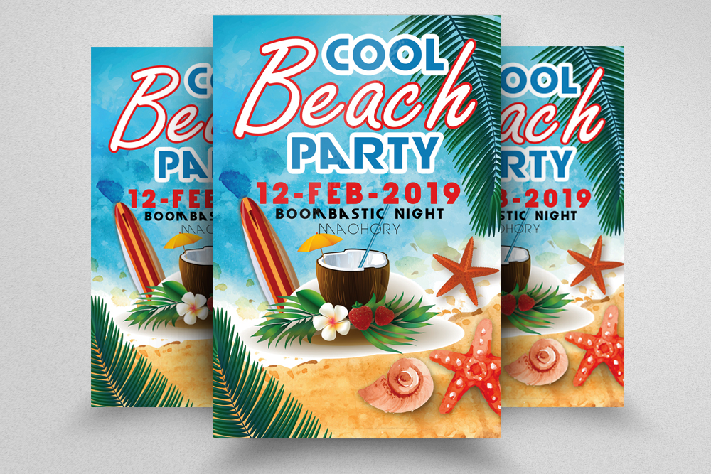 10 Summer Beach Party Flyers Bundle example image 7
