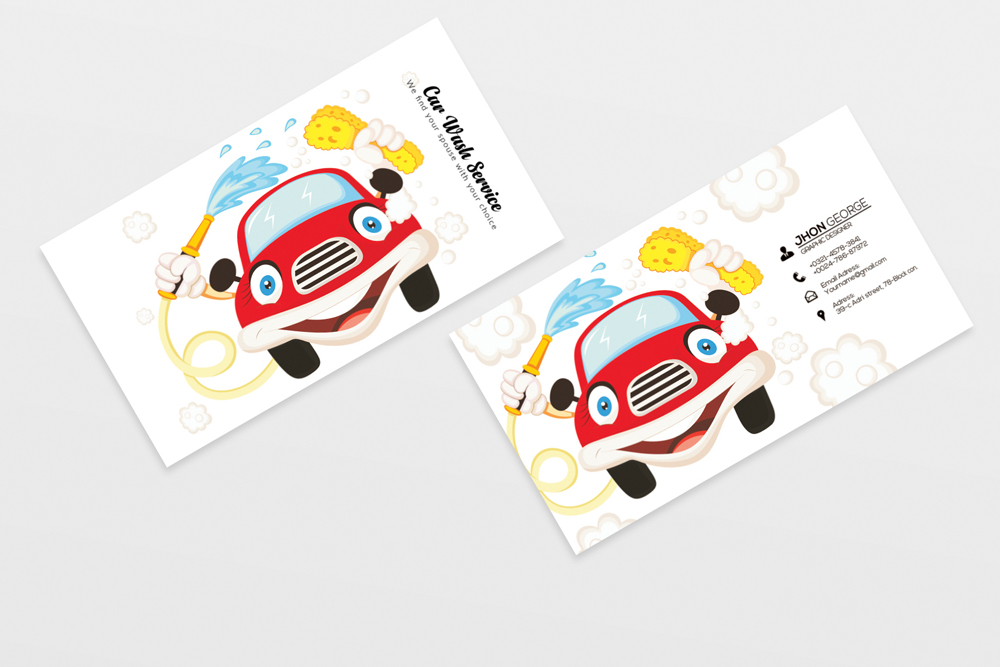 Car Wash Business Card example image 3
