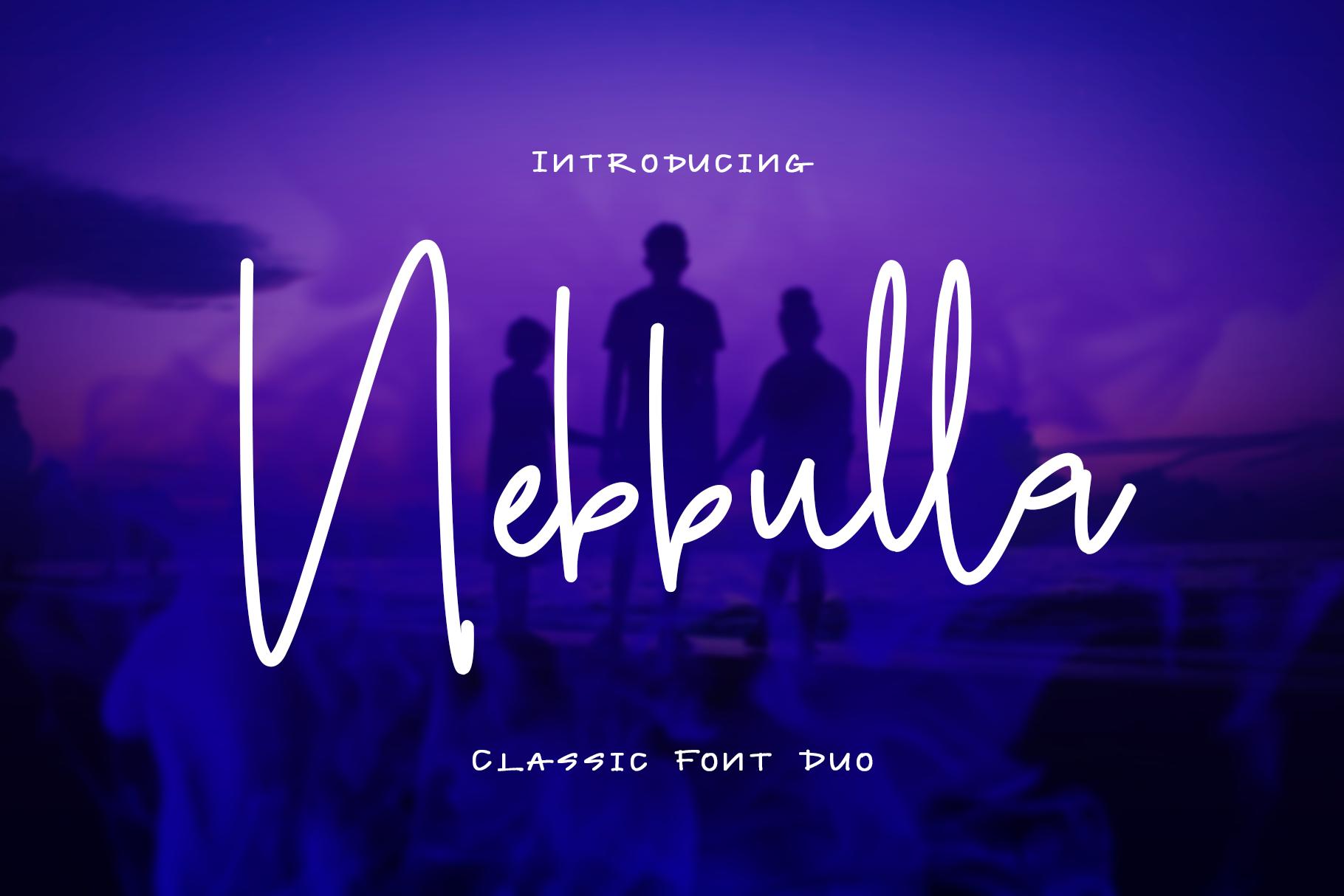 Nebbulla Font Duo example image 1