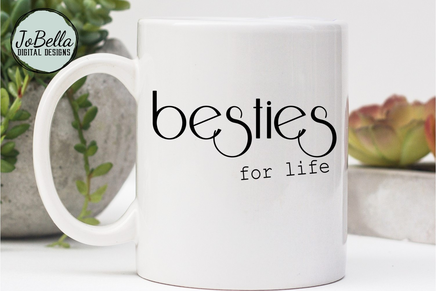 Besties For Life SVG and Printable Friendship Design example image 1