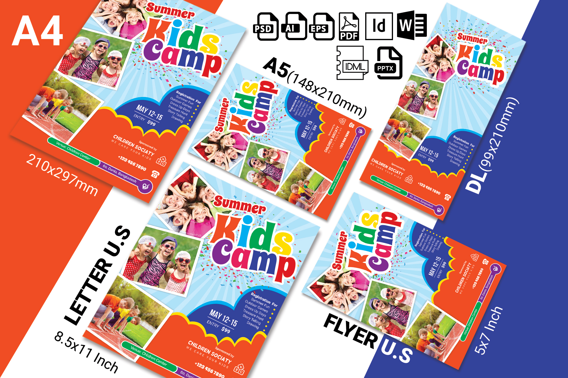 Kids Summer Camp Flyer Vol-03 example image 2