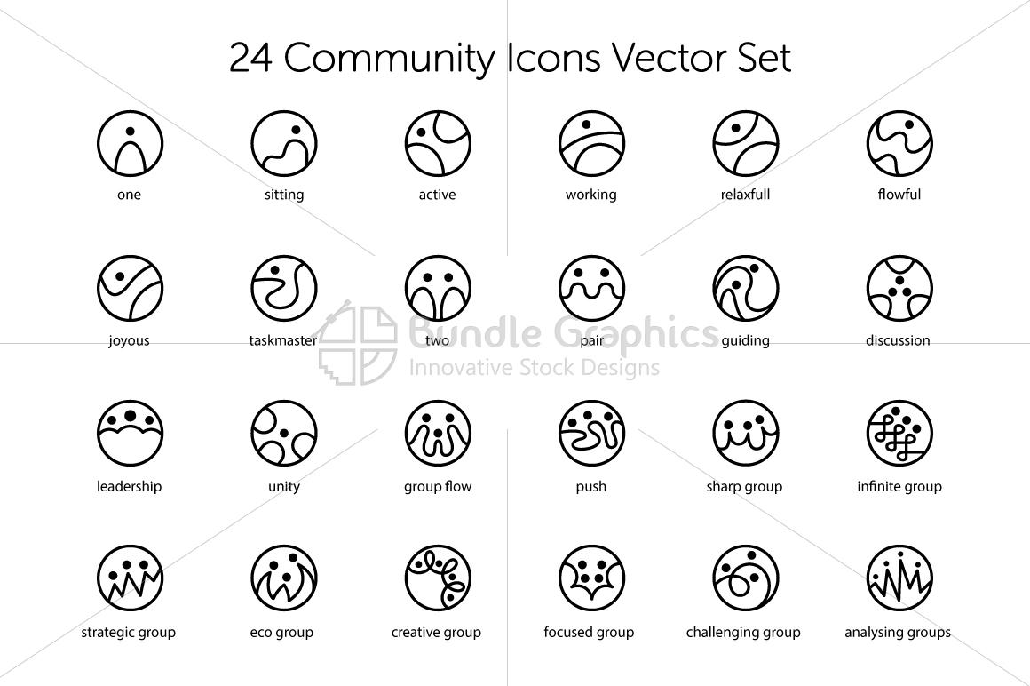 Community Icons Set example image 1