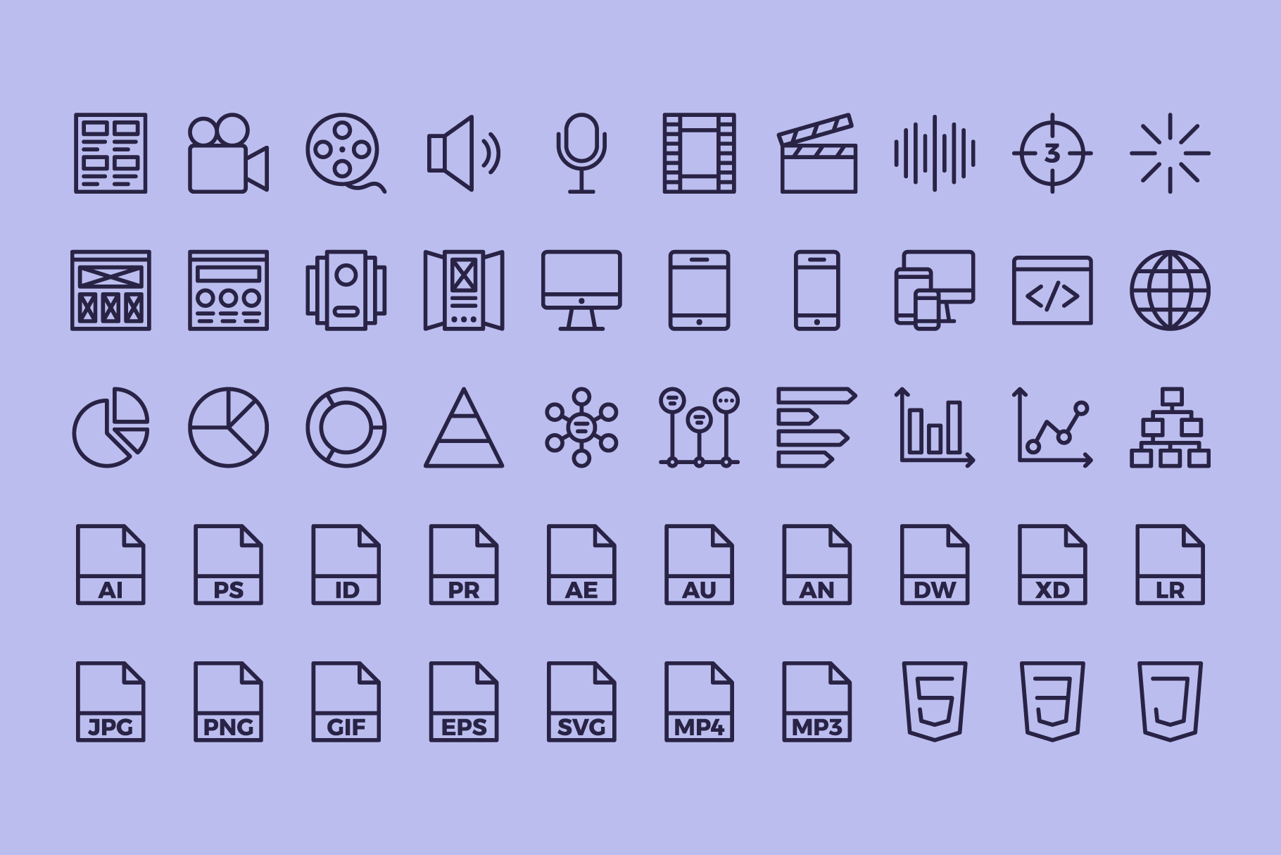 100 Graphic Design | Line Icons example image 5