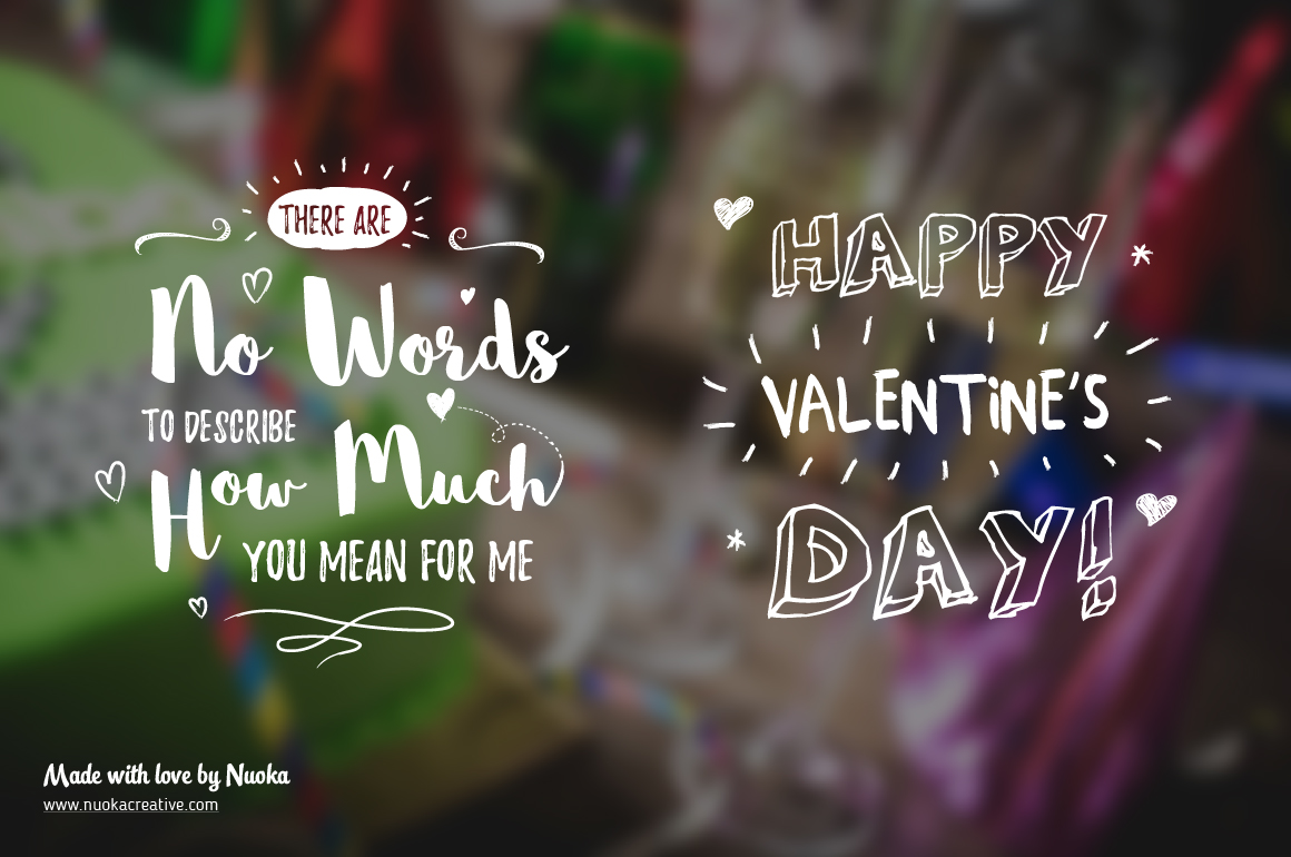 5 Greeting overlays - Words of Love example image 2