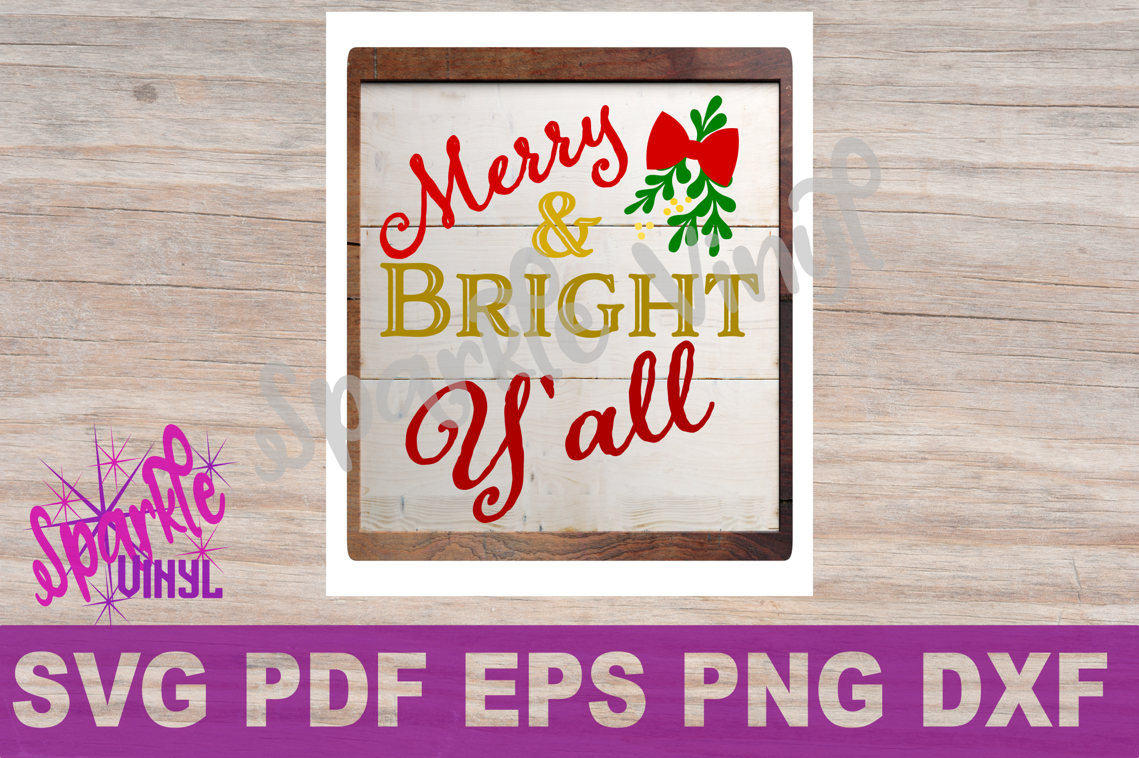 Svg Christmas Sign Stencil Bundle printable svg dxf png pdf esp files for cricut or silhouette Merry Christmas Trees Sold here Mistletoe svg example image 4