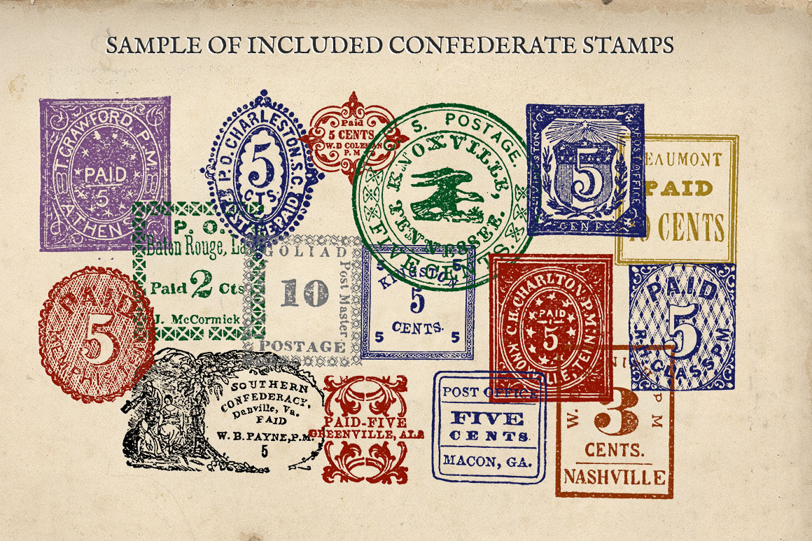 Antique US Stamp Graphics example image 6