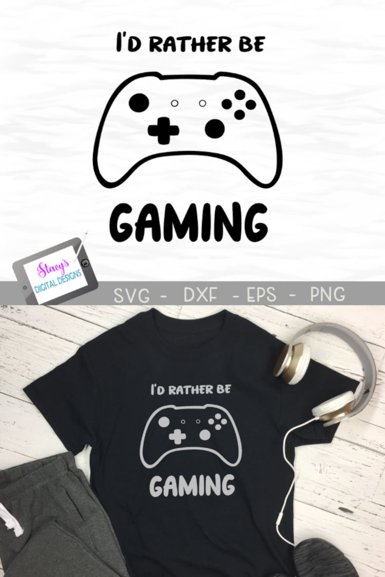 Video Game SVG - I'd rather be gaming example image 5