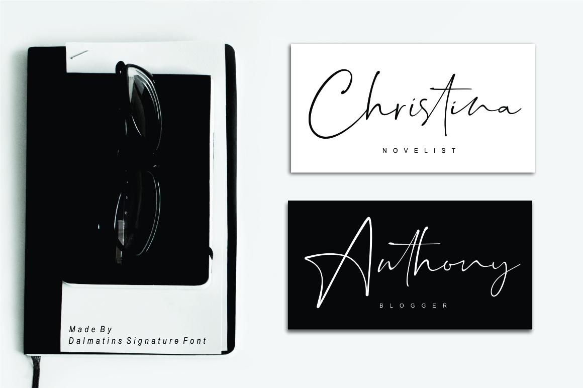 Dalmatins // Elegant Signature Font example image 4