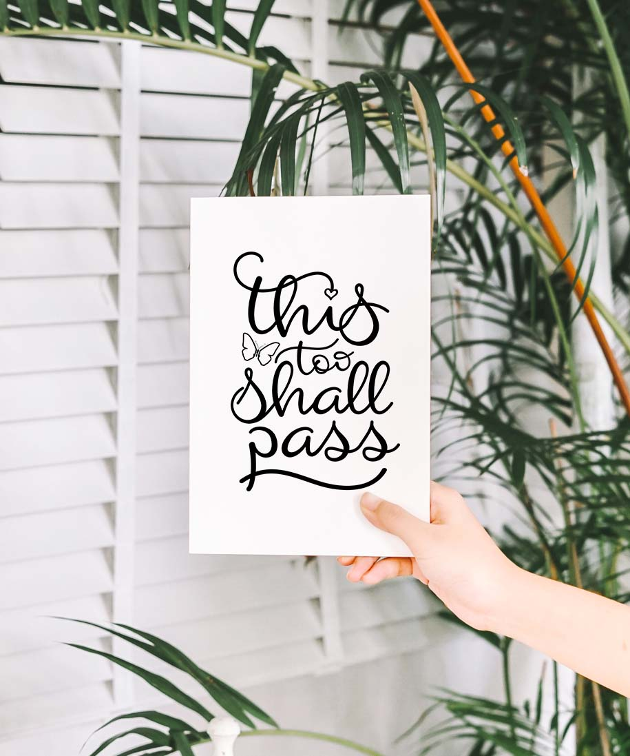 This too shall pass SVG DXF PNG EPS example image 2