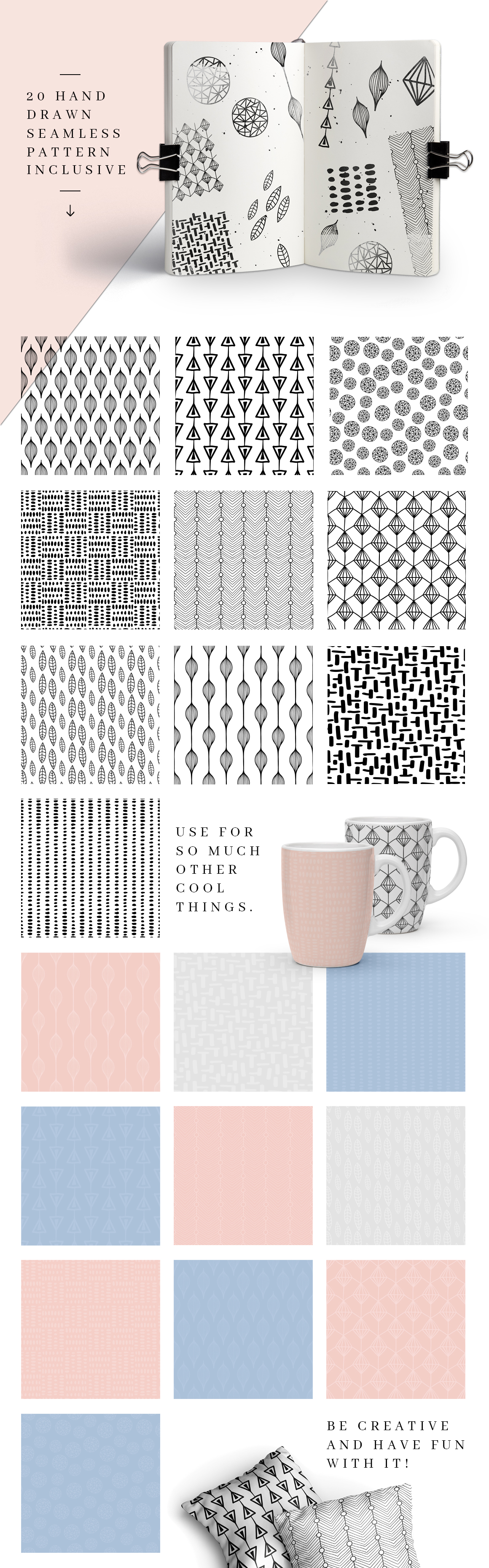 MALINA Business Cards + Logos + Pattern example image 6