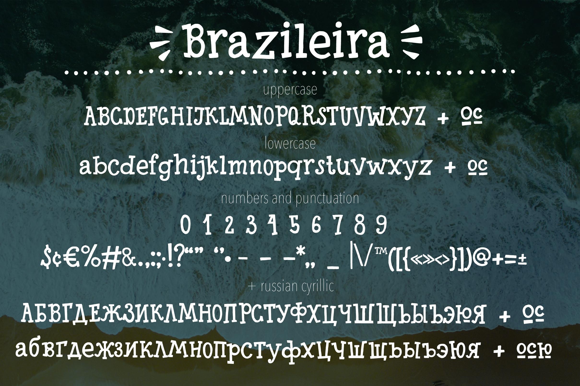 Brazileira - Slab Serif Font example image 9