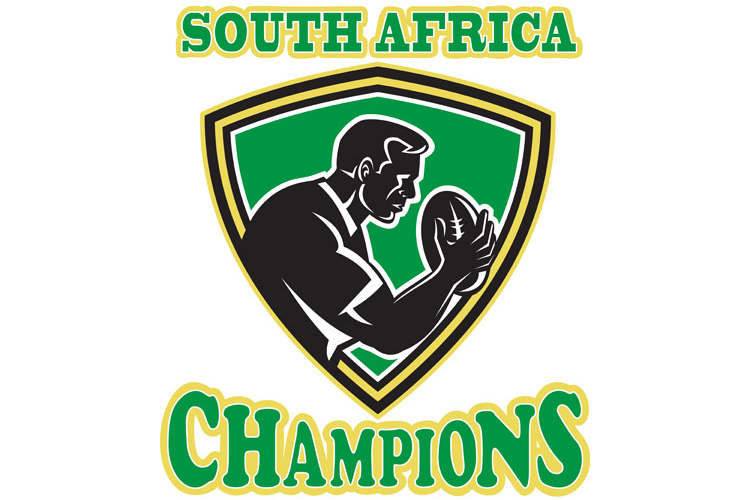 Rugby player South Africa Champions shield example image 1