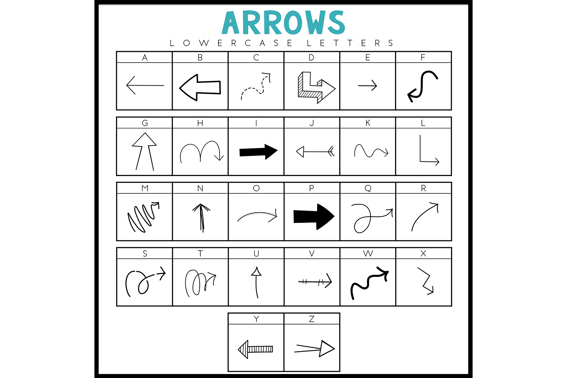 Arrows - A Doodle Font example image 5