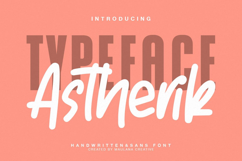 Astherik - Handwritten Free Sans Font example image 1