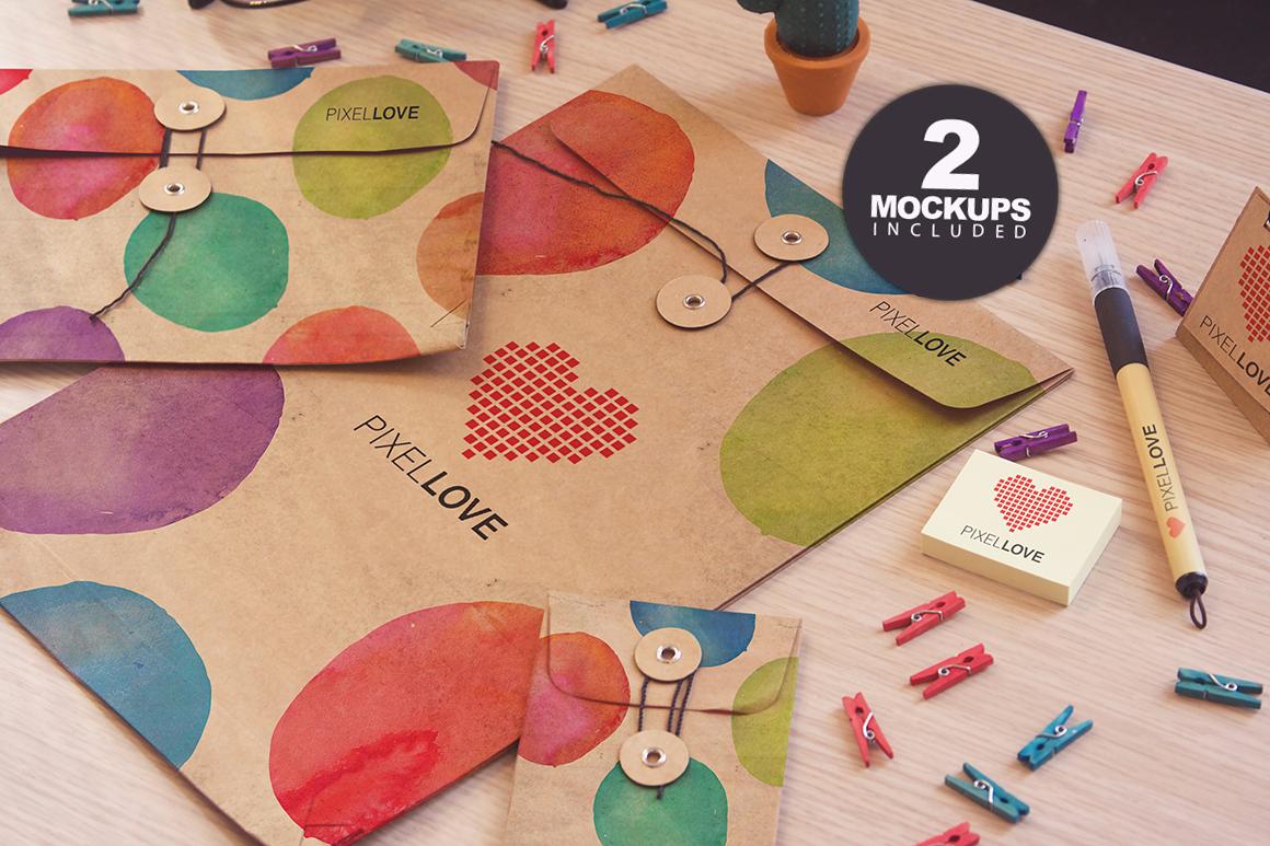 Envelopes Mockup Pro Duo example image 1