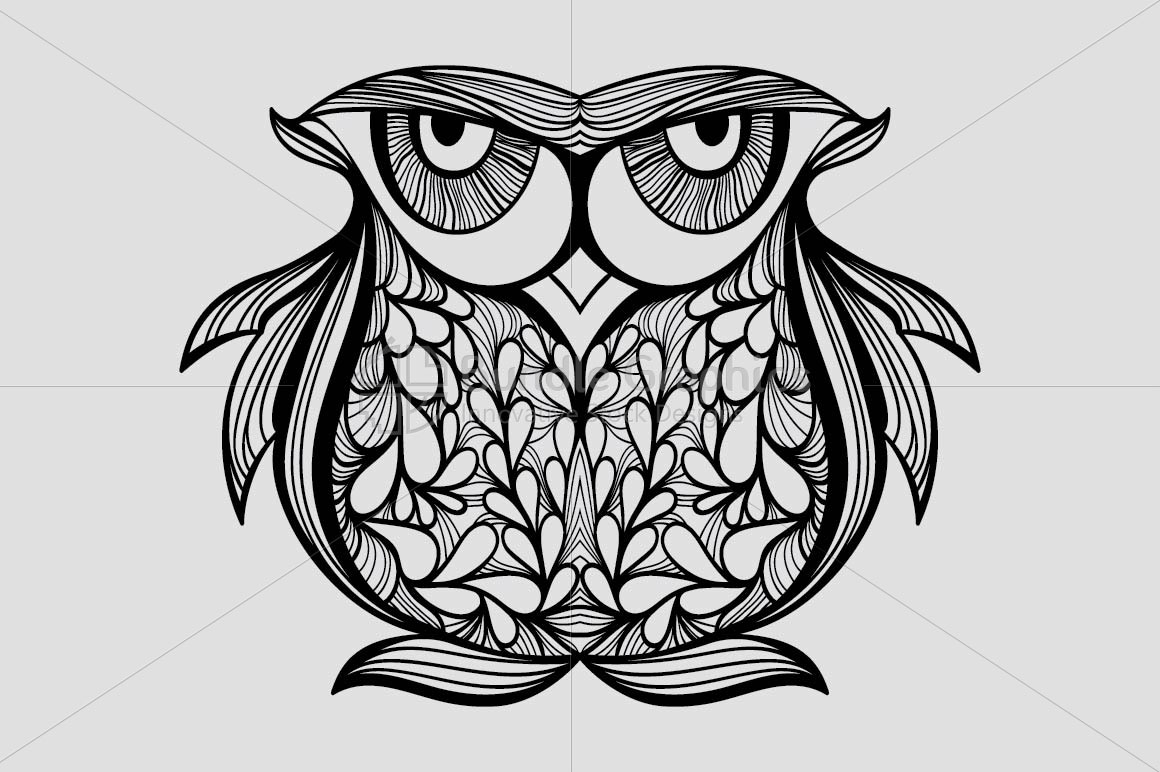 Staring Owl -  Creative Textured Graphics example image 2