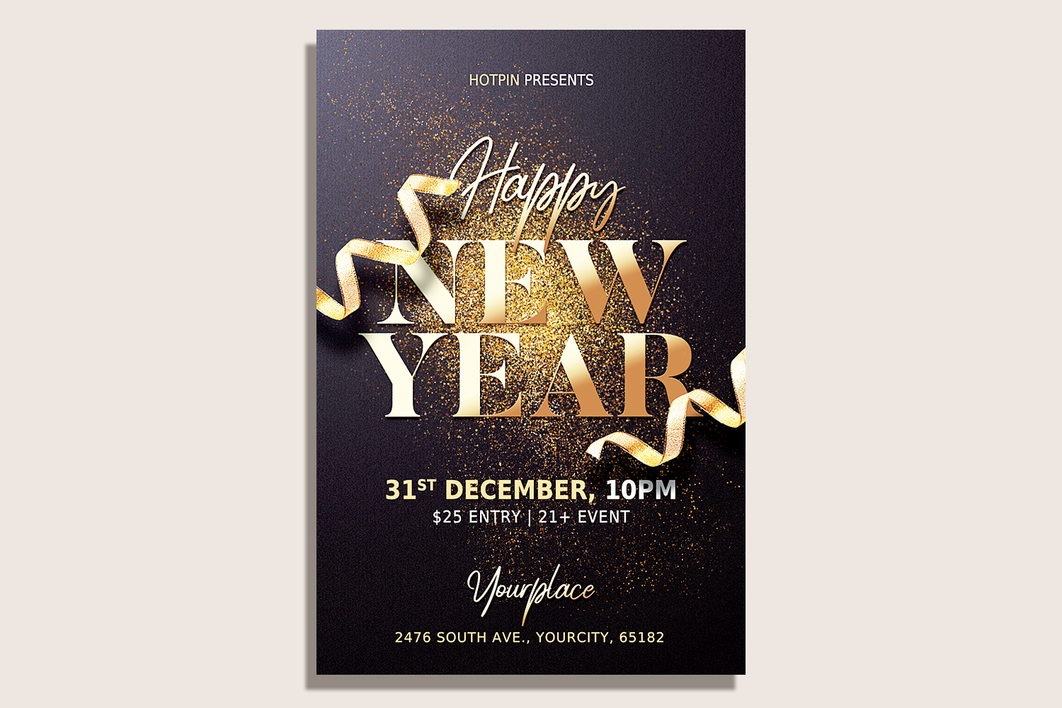 New Year Flyer Template example image 1
