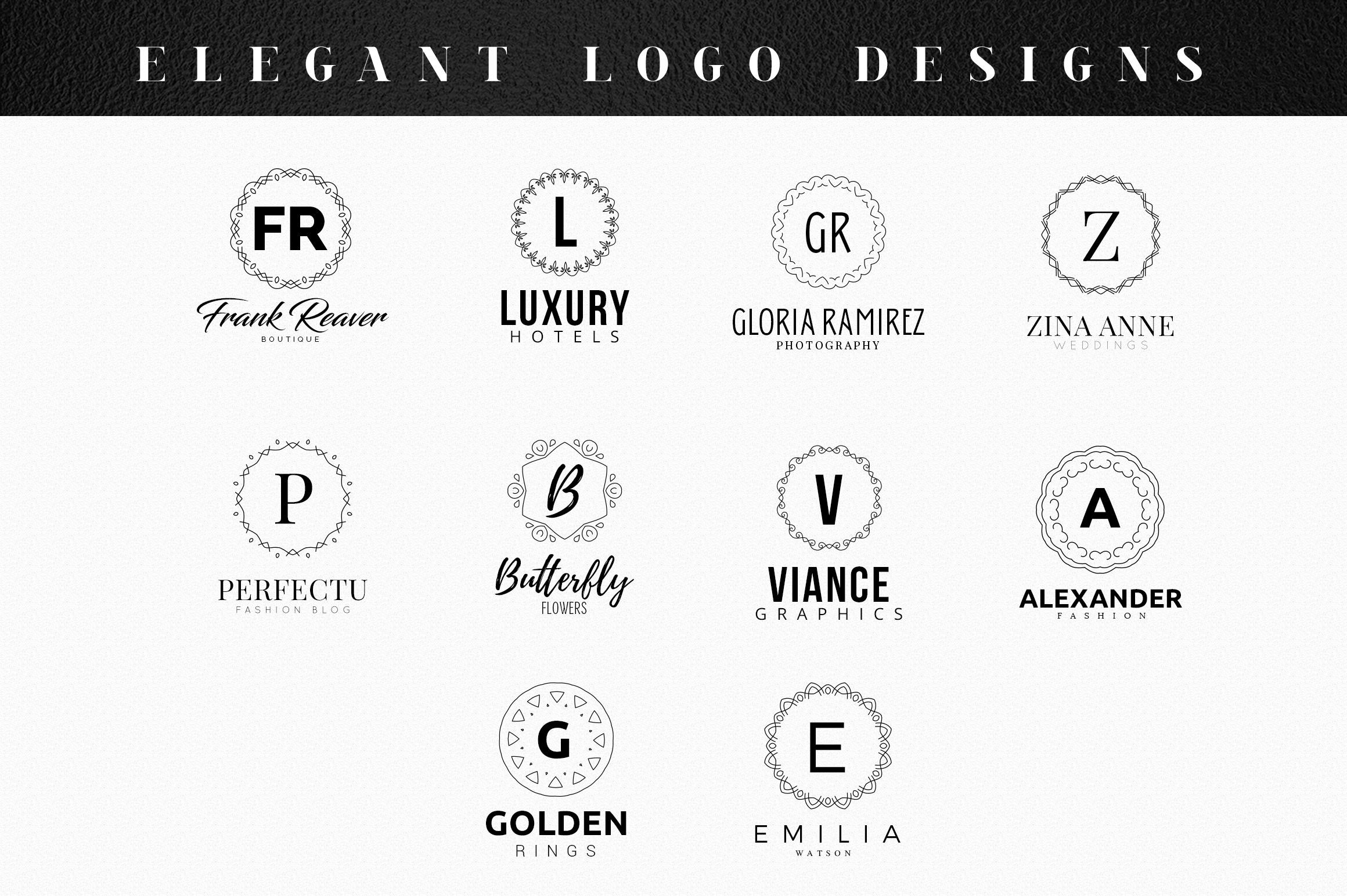 10 Elegant Logo Templates Vol.02 example image 4