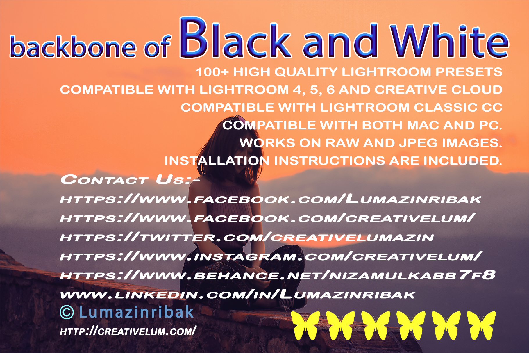 Backbone of Black and White Lightroom Presets example image 12