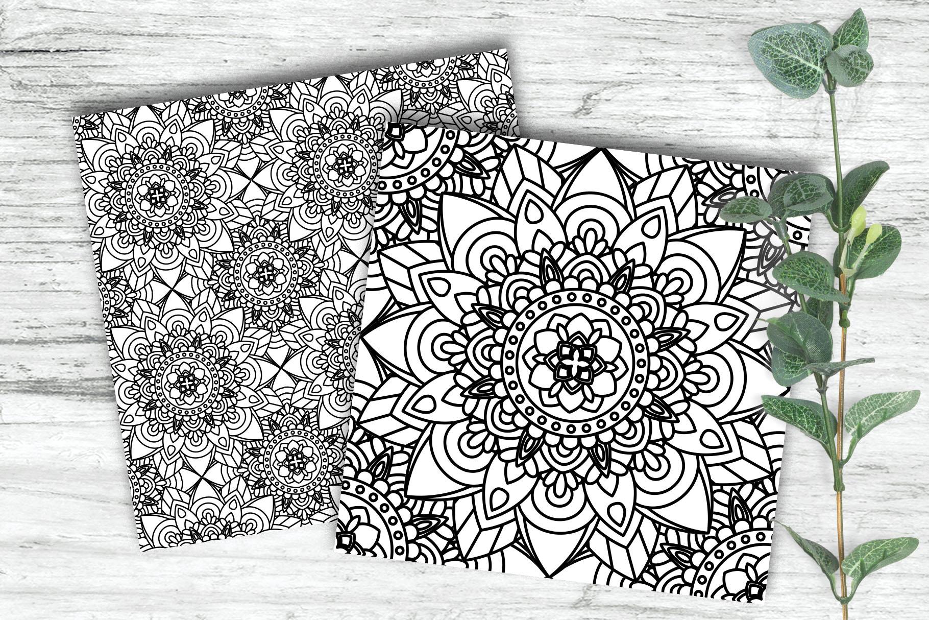 100 Mandalas Seamless Patterns example image 2