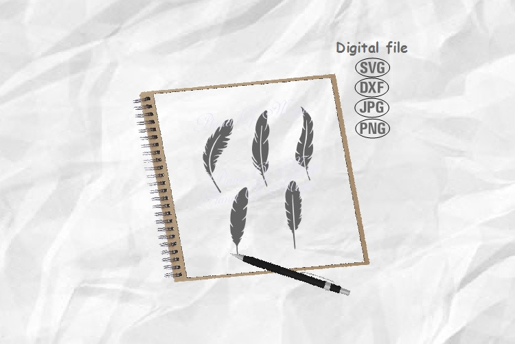 Feathers Svg, Feather Bundle Svg, Feather Png example image 1