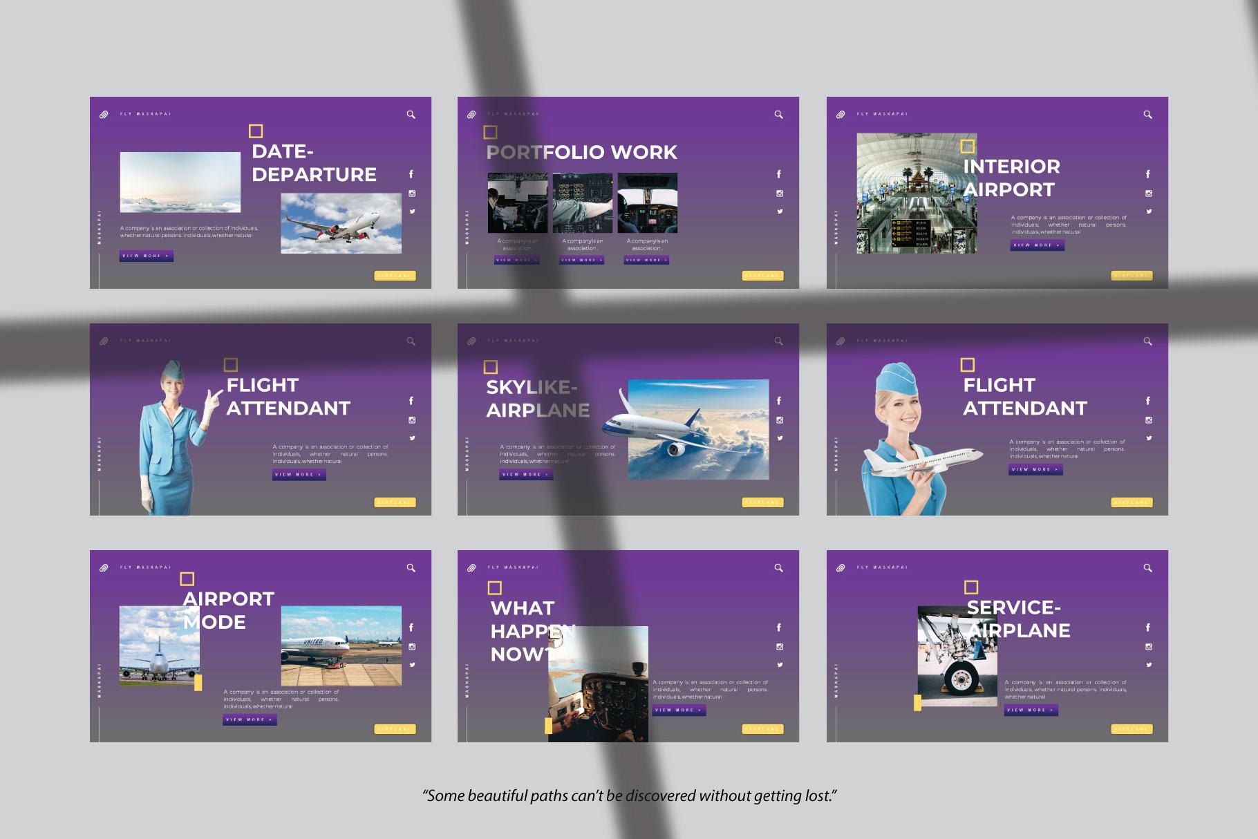 Maskapai Keynote Template example image 2
