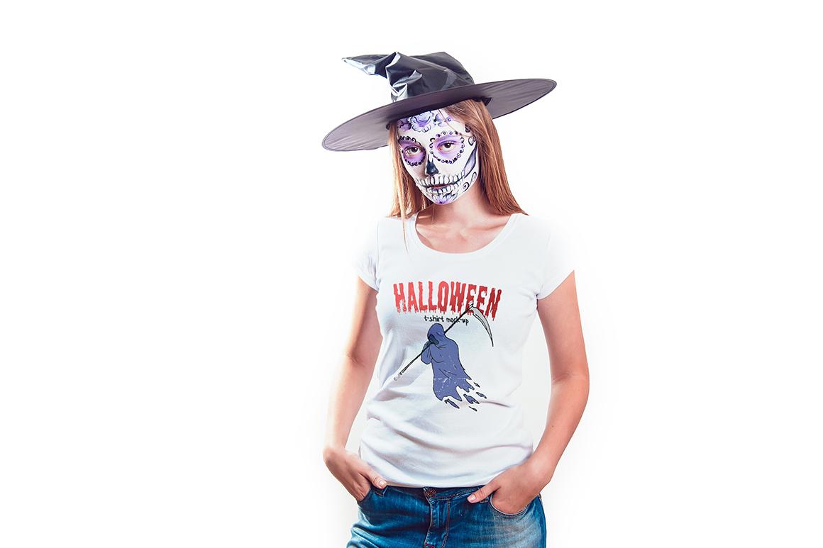 Halloween T-Shirt Mock-Up example image 11