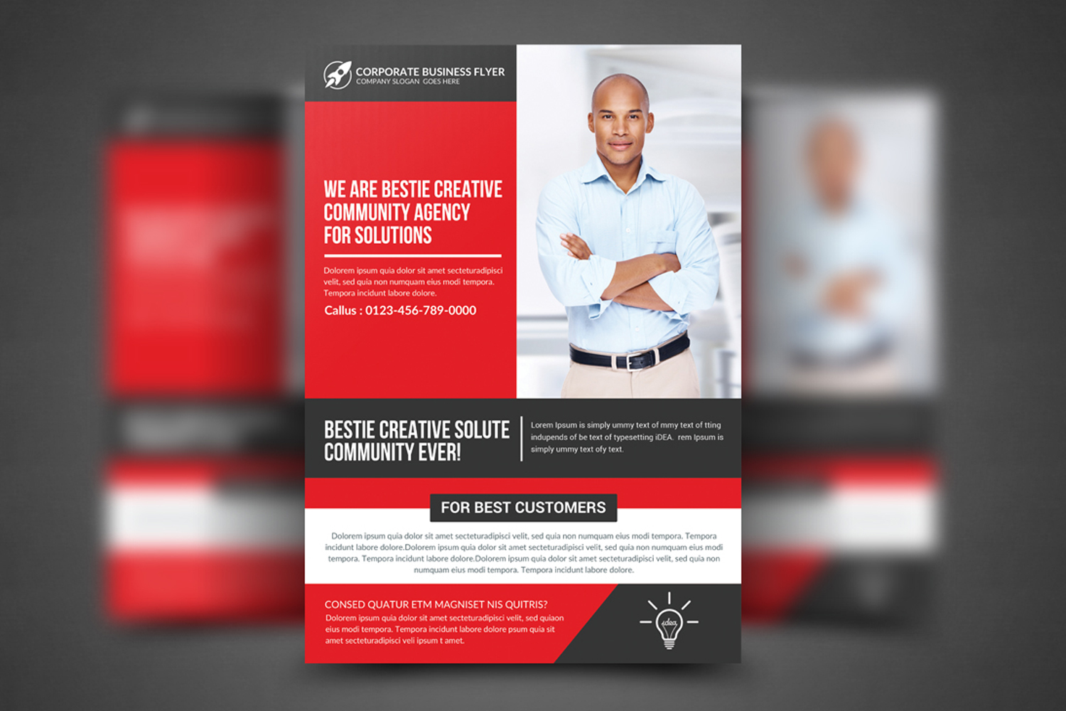 Corporate Business Solution Flyer example image 1