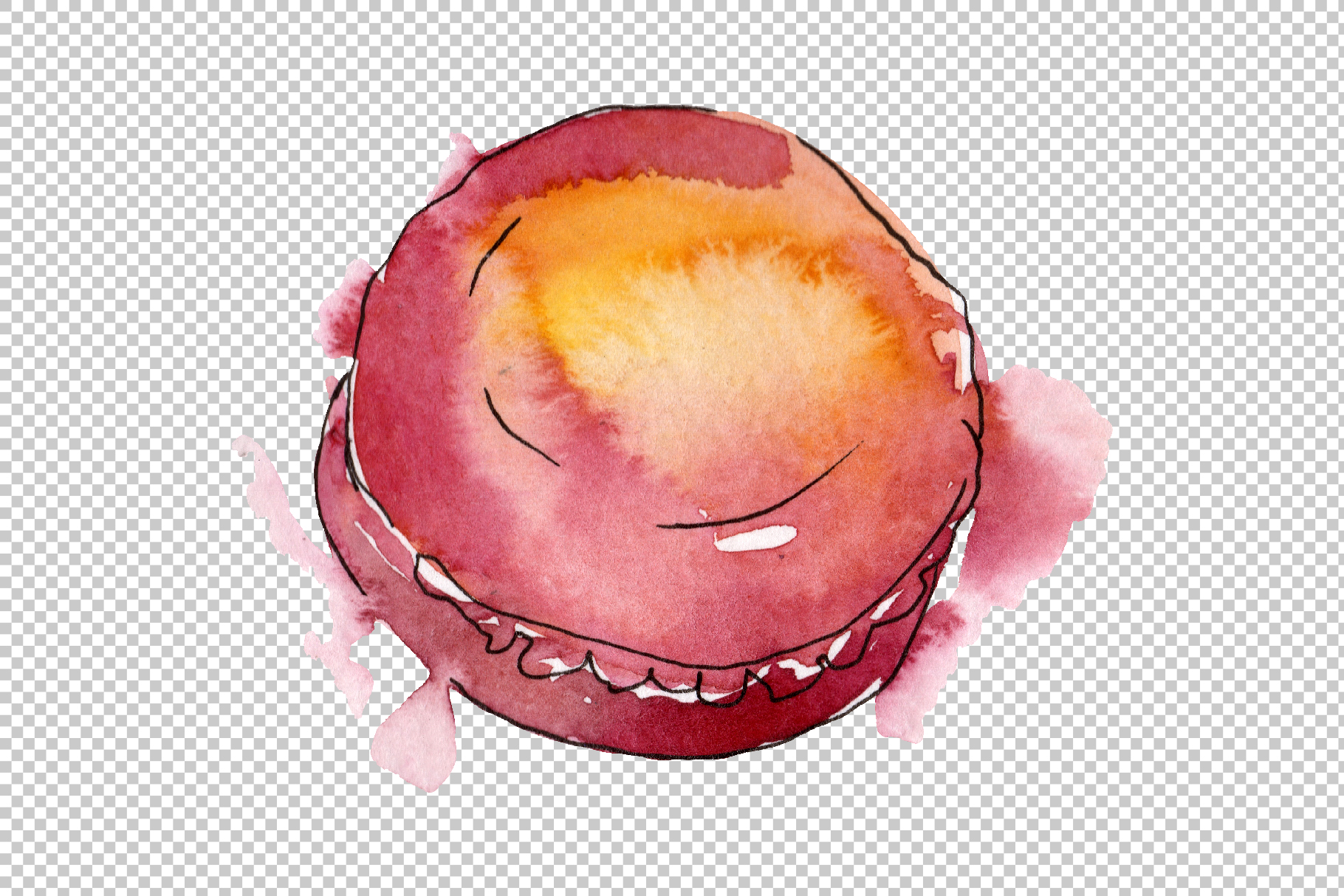 Dessert Provence Watercolor png example image 4