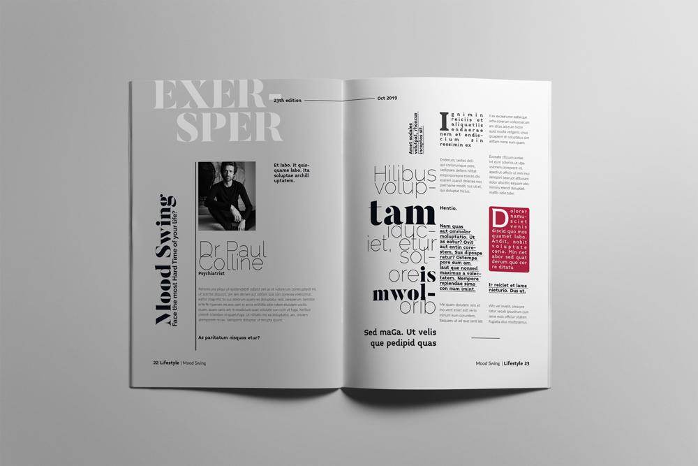 Fashion Magazine Layout Template example image 12