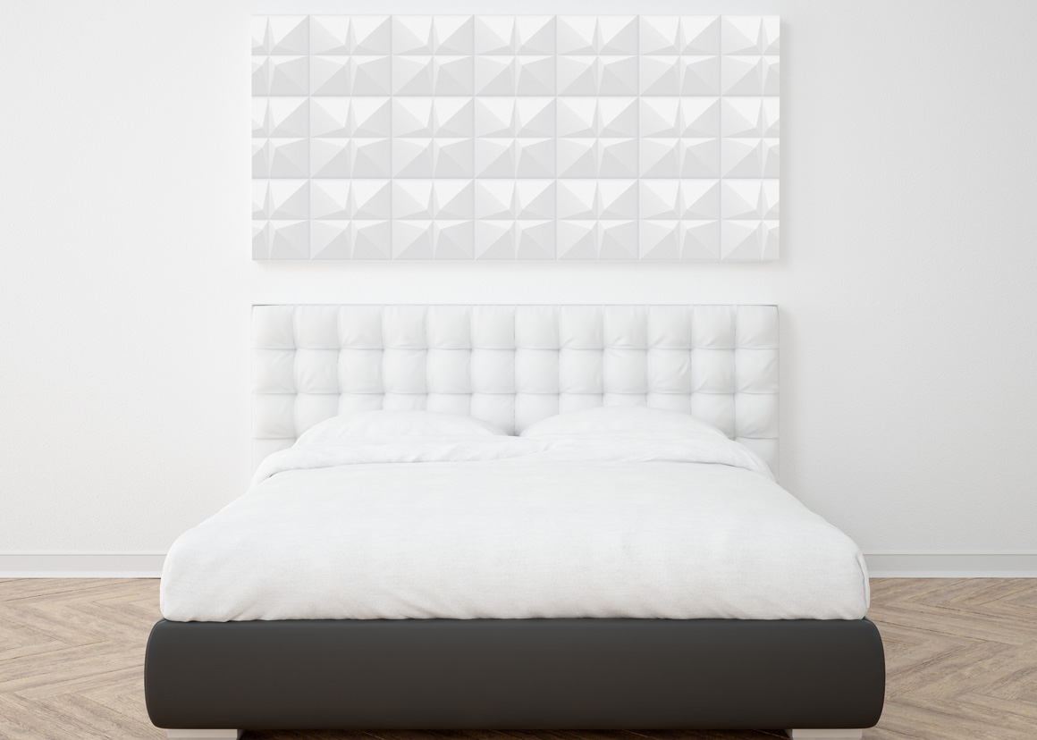 White geometric 3d seamless textures example image 2