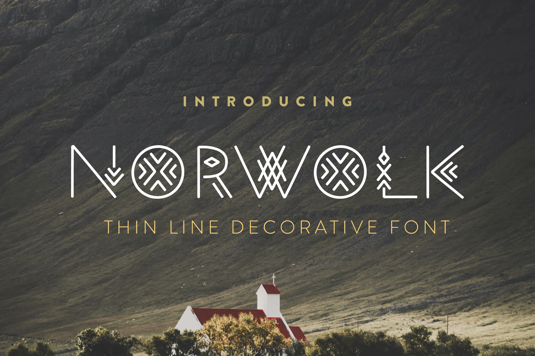 Thin Line Font Bundle 6 in 1 example image 18