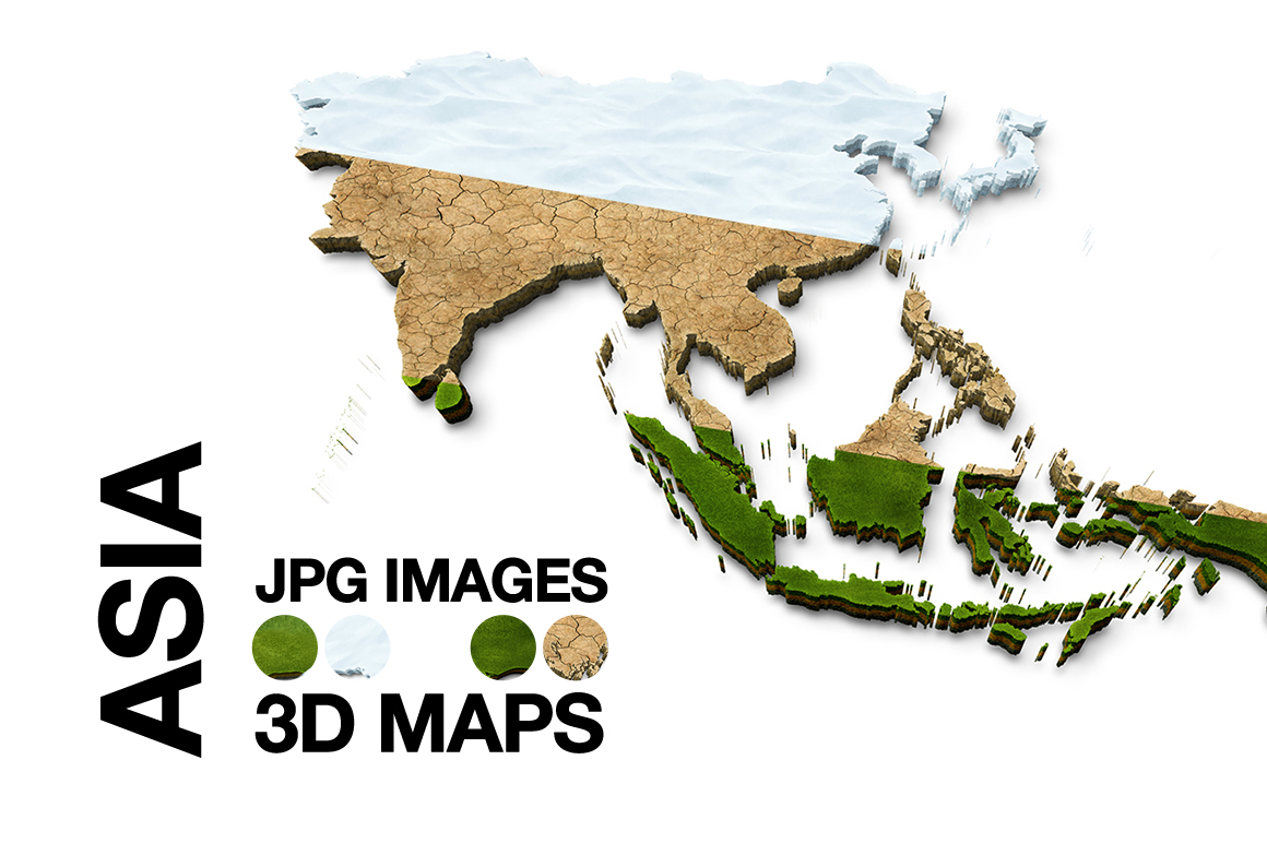 Map Of Asia 3d.Asia 3d Maps Images Dry Earth Snow Grass Terrai