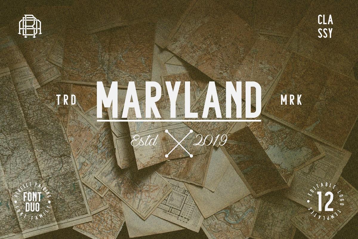 Maryland | Classy Font example image 2