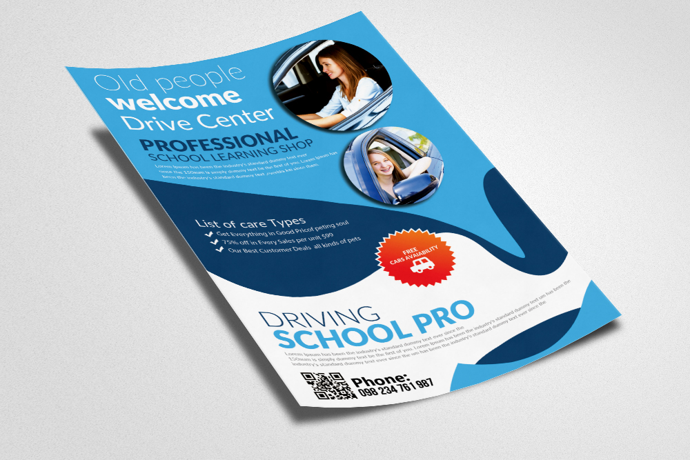 Driving  School Flyer Templates example image 3