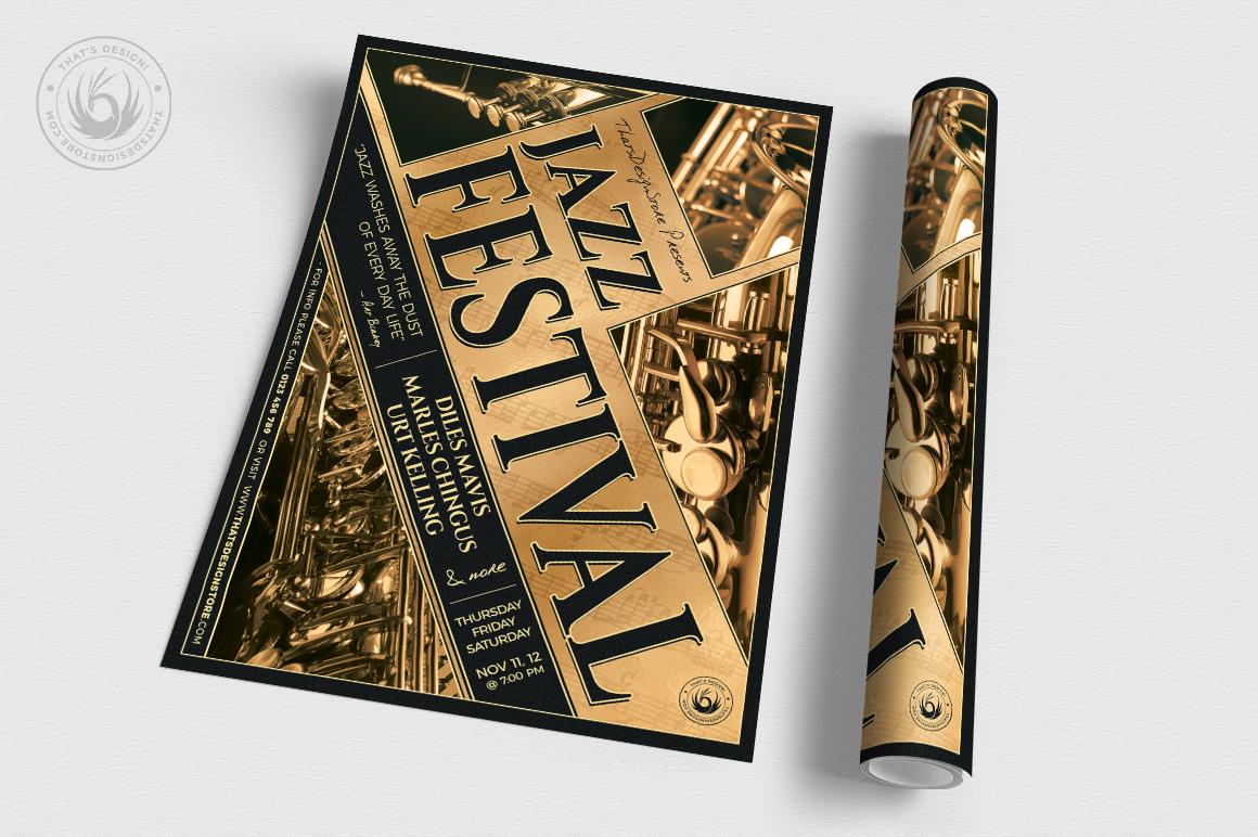 Jazz Festival Flyer Template V1 example image 3