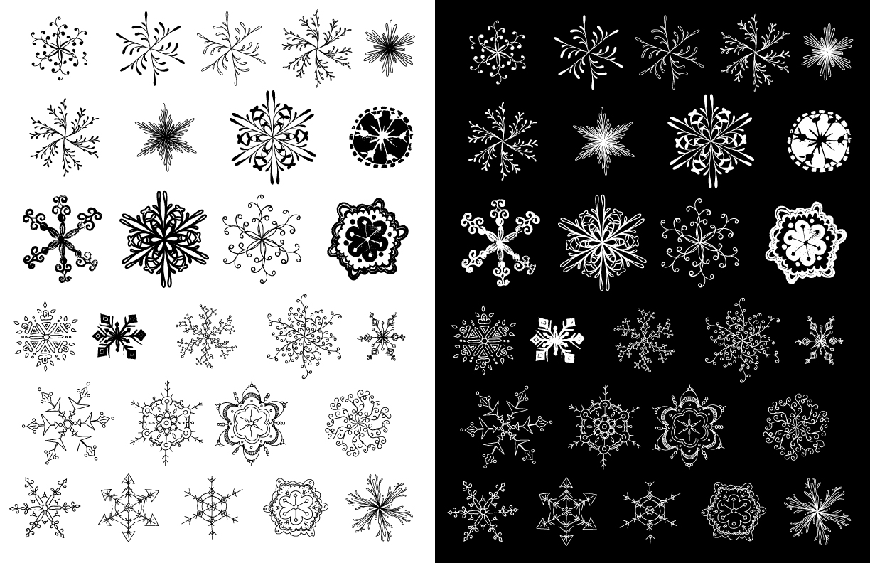 Snowflake Vector Pack example image 2