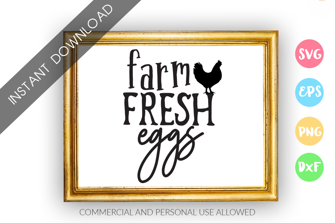 Farm Fresh eggs SVG Design example image 1