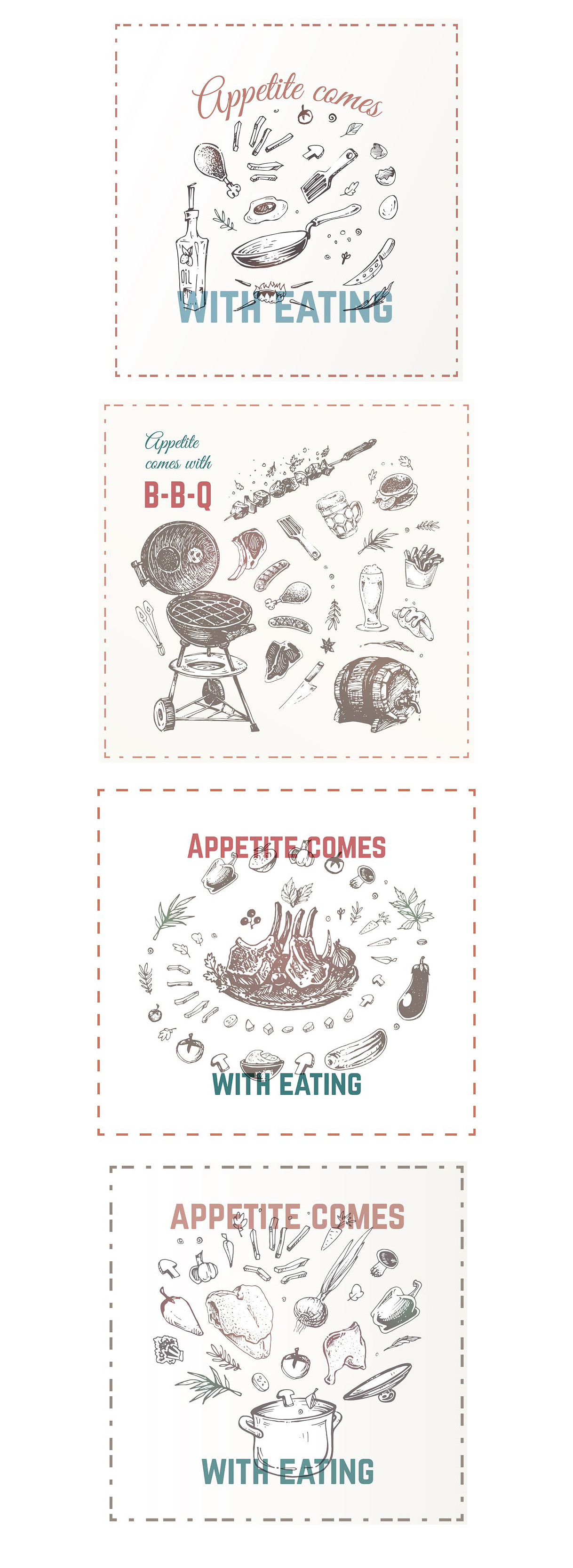 Hand drawn cooking and food icons example image 23