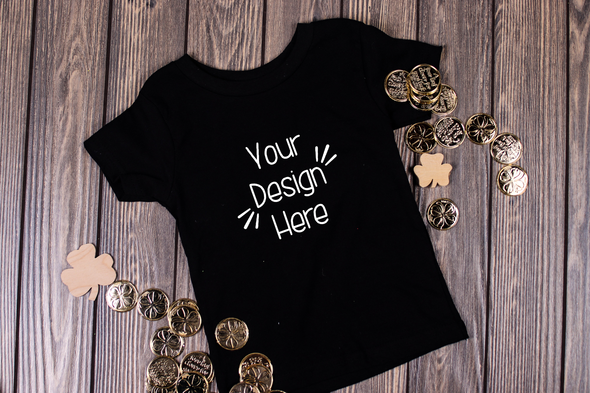 March Toddler Shirt Mockup Black 2| St Patricks Day Shirt example image 1