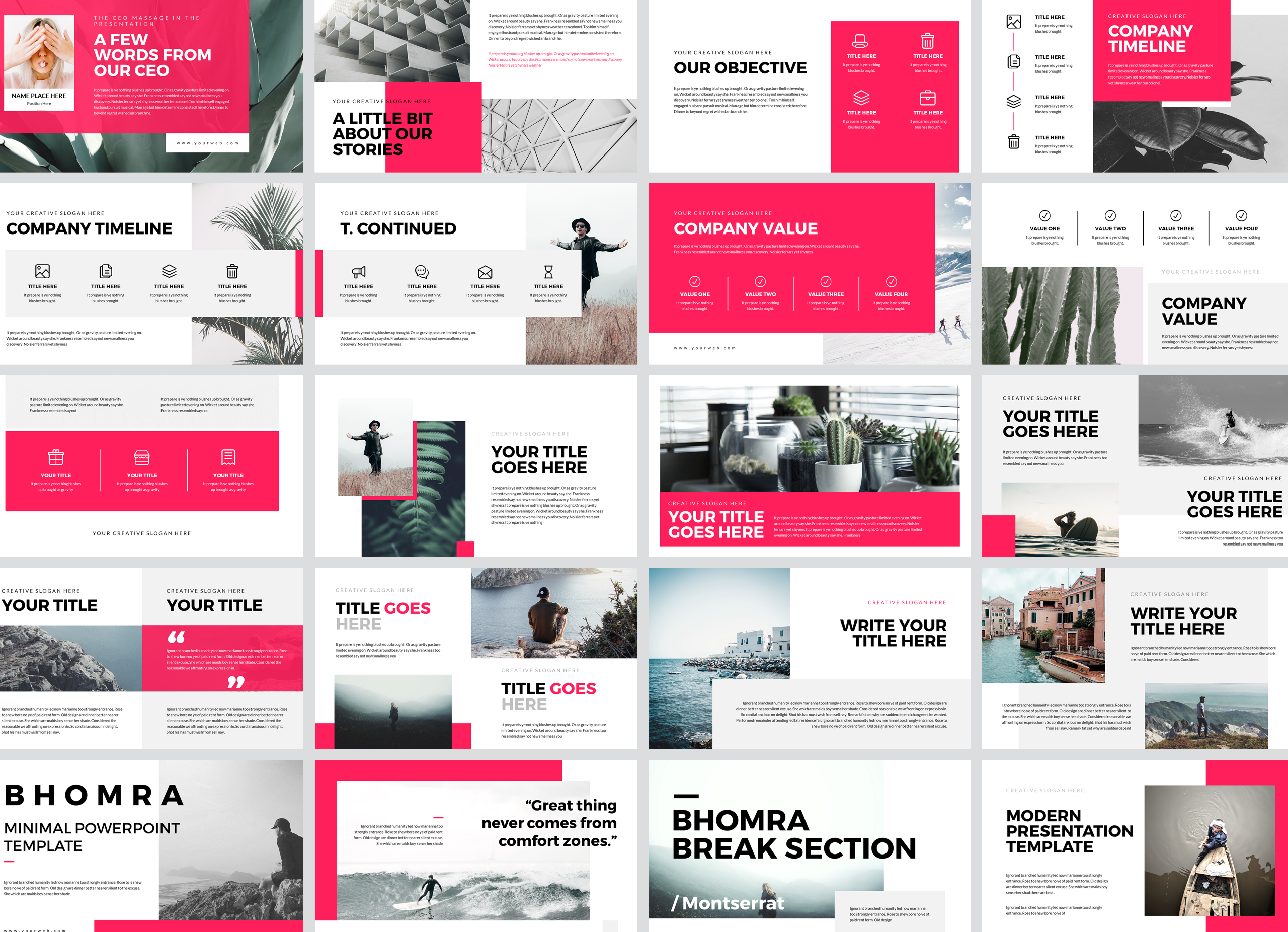 Bhomra Minimal Powerpoint Presentation Template example image 2