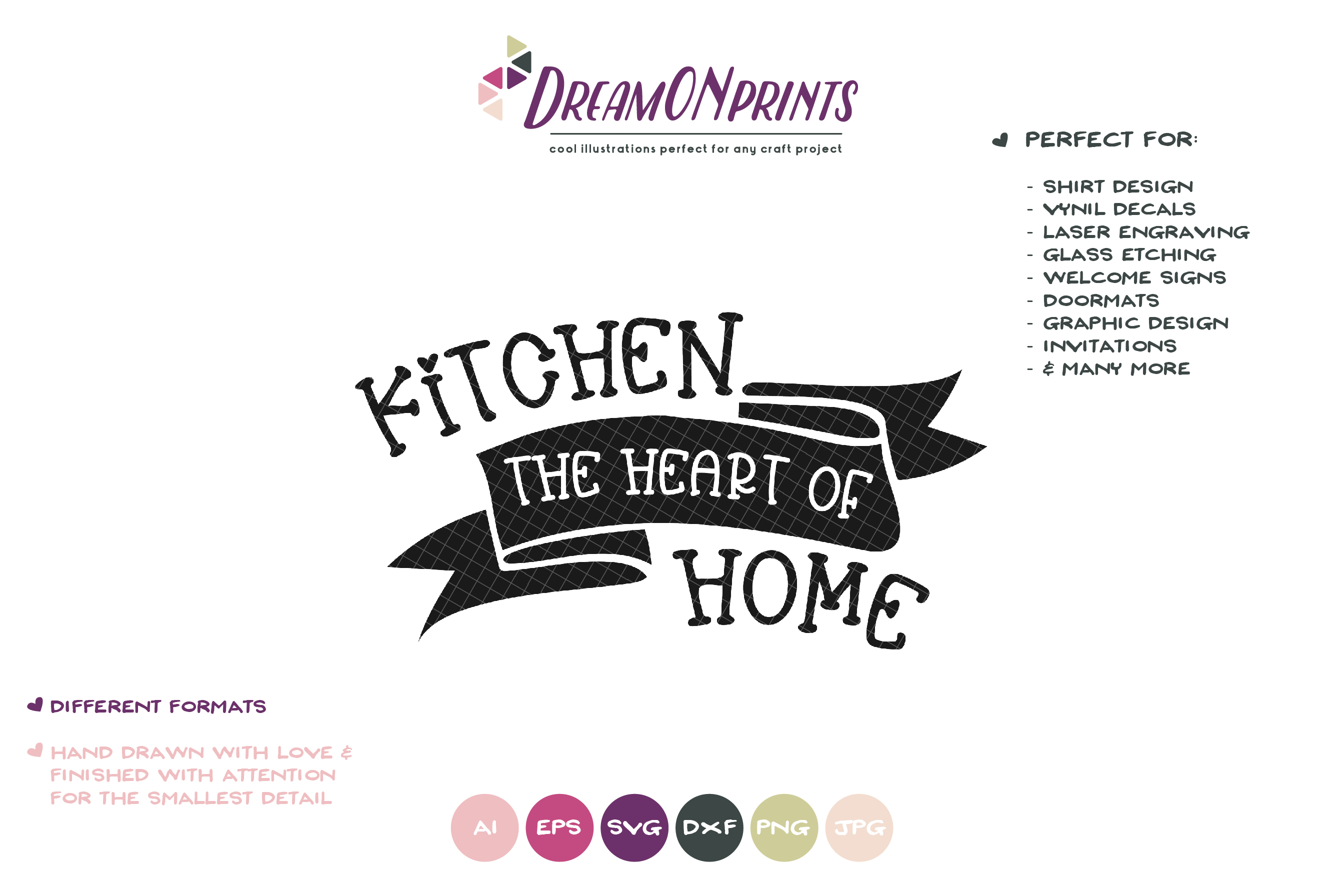 Kitchen the Heart of Home SVG - Kitchen SVG Cut Files example image 2