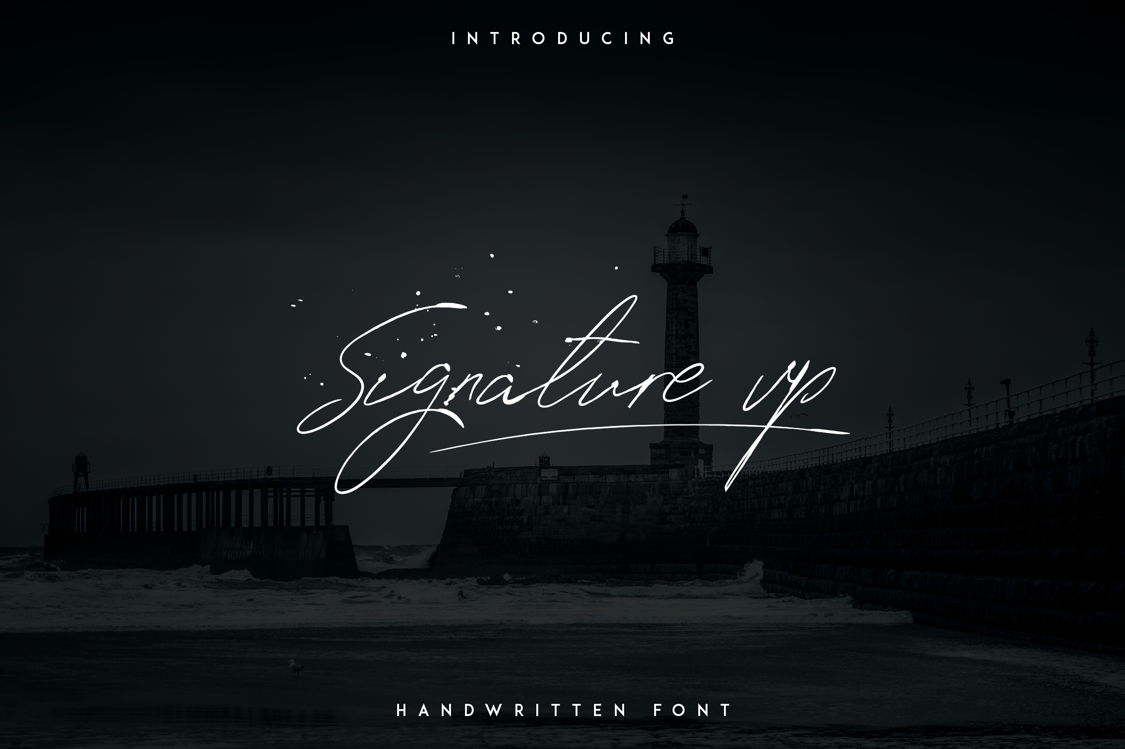 Signature vp - Handwritten font example image 1