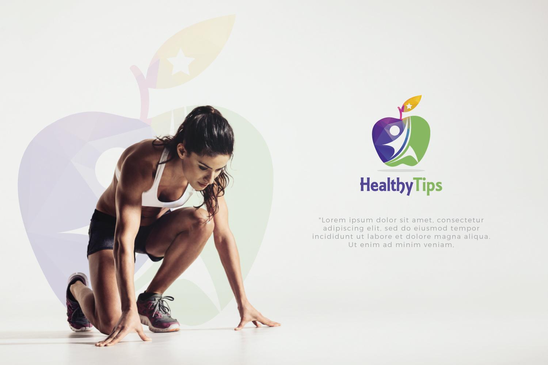 Healthy Life, Fitness Logo example image 2