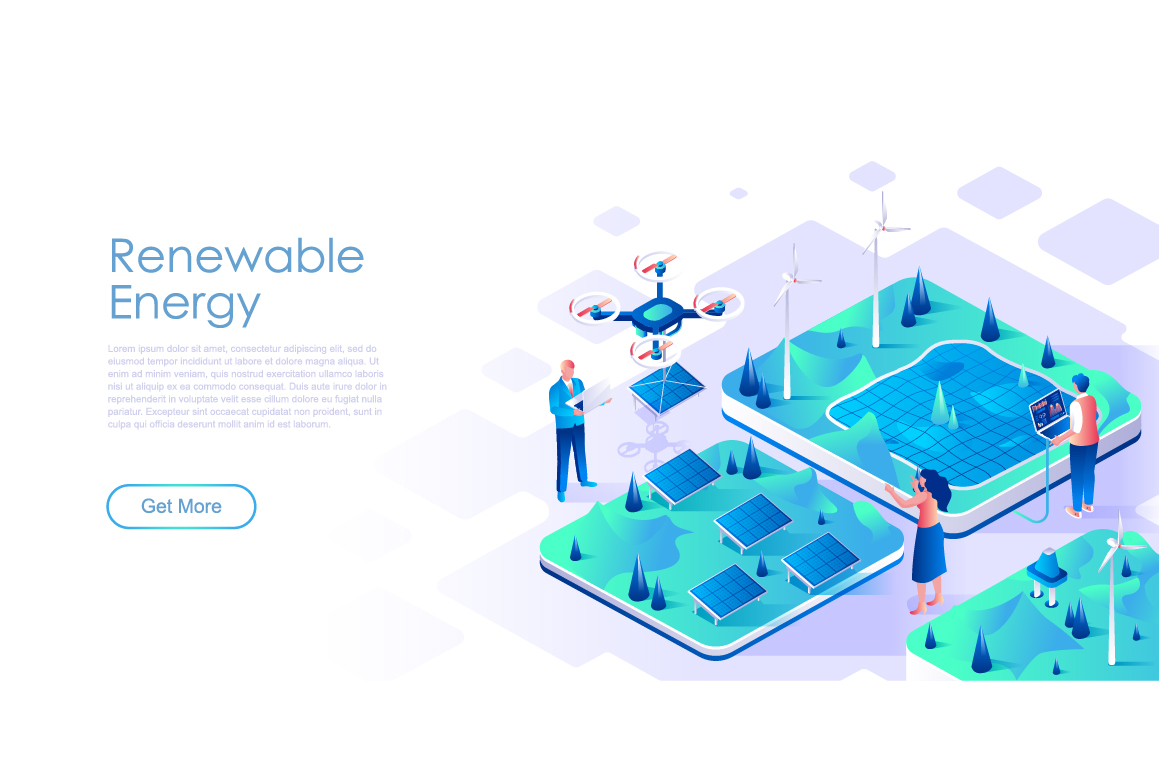 Bundle Isometric Landing Page Template Header example image 22