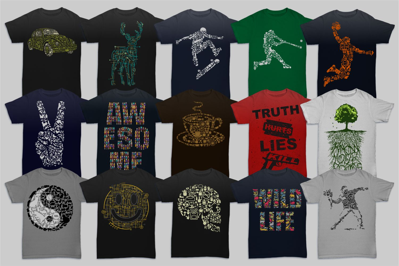 Tshirt Designs Mega Bundle Pack 1 example image 3
