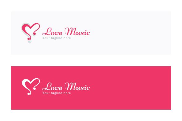 Love Music - Alphabetic Stock Logo Template example image 2